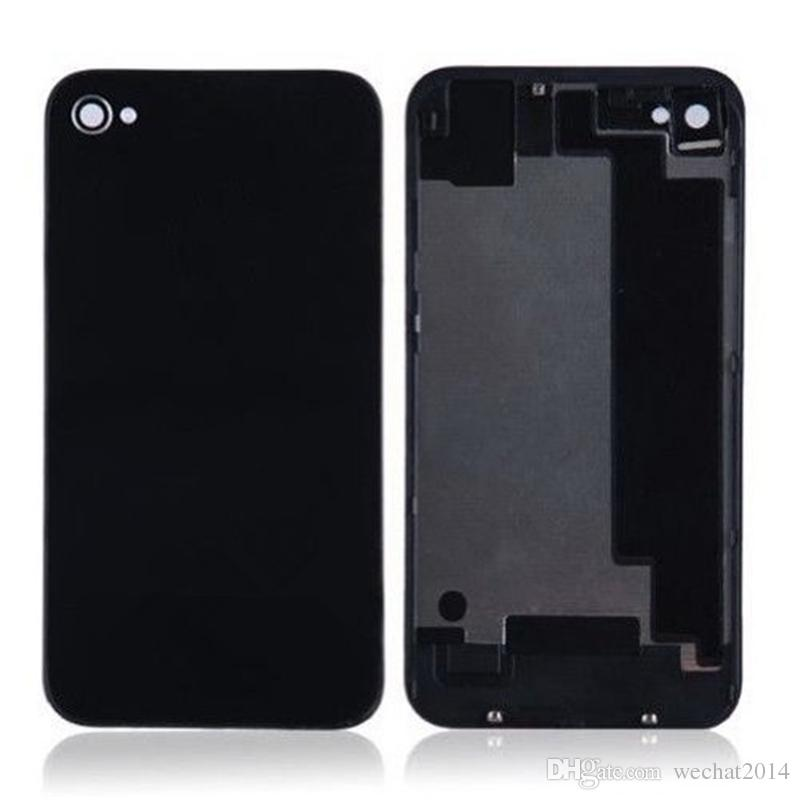 Back Glass Full Housing Back Cover Battery Cover with Flash Diffuser for iPhone 4 4s DHL Shipping