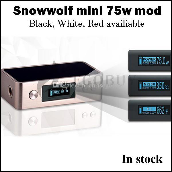 100% оригинал Зебра мини 75W темп-контроля мод снег волк 75 18650 батареи мод В. С. Sigelei 150W плюс 80Вт vt75 rx200s al85 fuchai 213