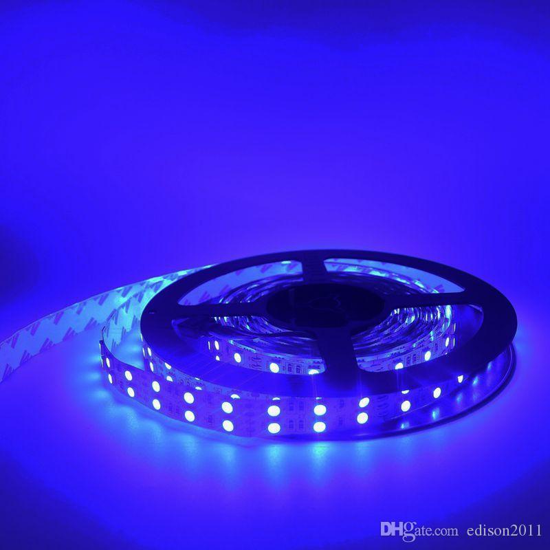 Edison2011 5050 5m 600LEDS Dubbelrass LED-remsor Ljus Non Vattentät Varm / Ren Vit RGB LED-lampor 8400 Lumens DC 12V Flexibel