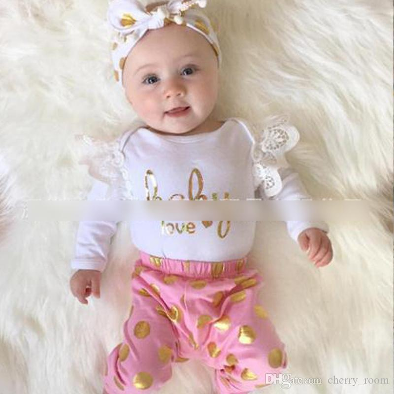 4419385bbdf HOT Baby Girls Rompers Sets Jumpsuits Princess Girl Cute One-piece ...