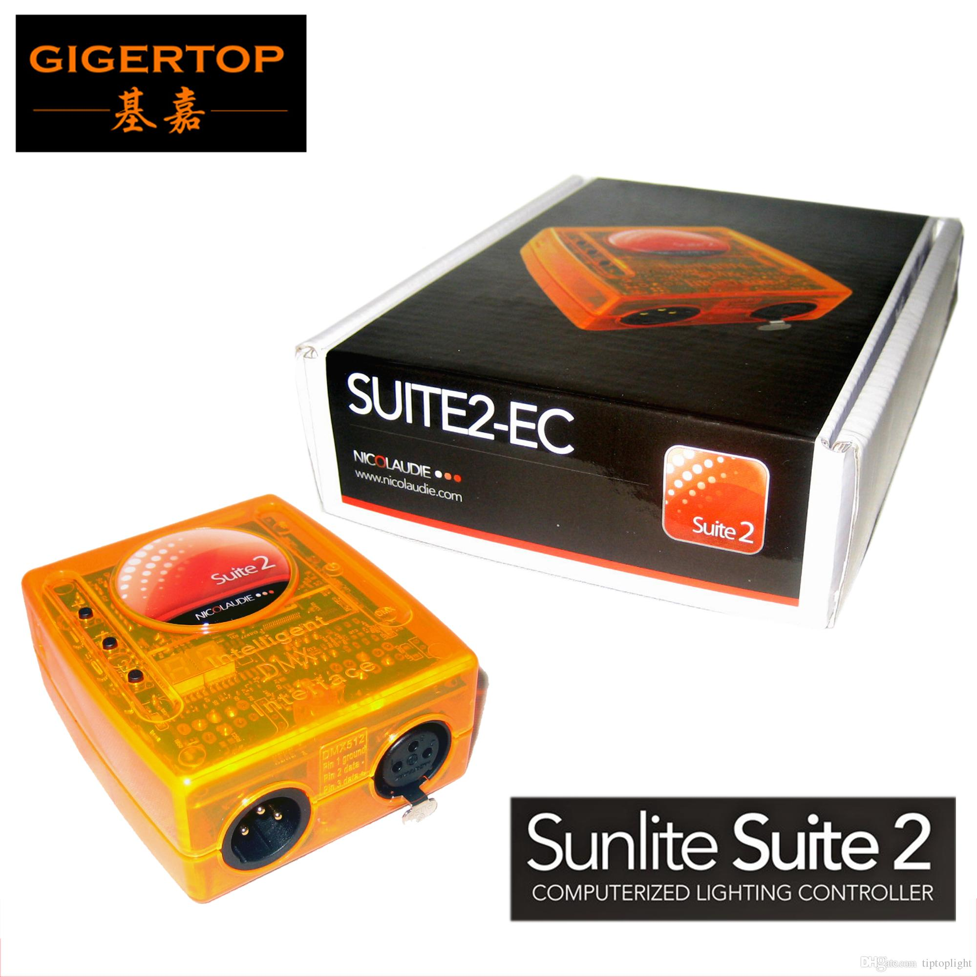 Freeshipping Sunlite Suite 2 EC USB DMX Interface Controller Lighting  Control Software Economy Class Mini Size Console Builder Easy Show 3D