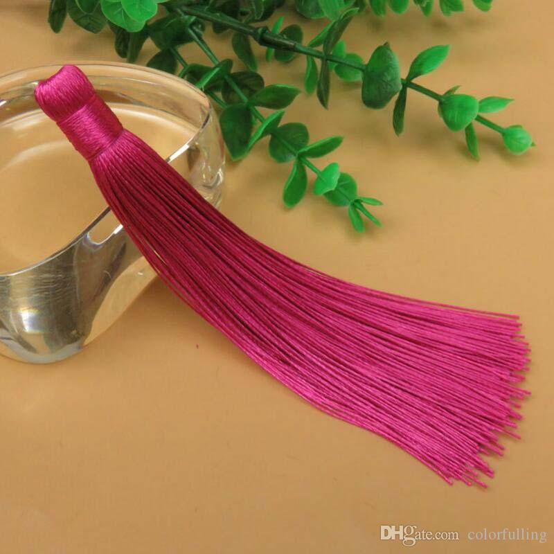 New 120mm Mixed Cotton Silk Tassels Earrings Charm Pendant Satin Tassels for DIY Jewelry Making Jewelry accessories