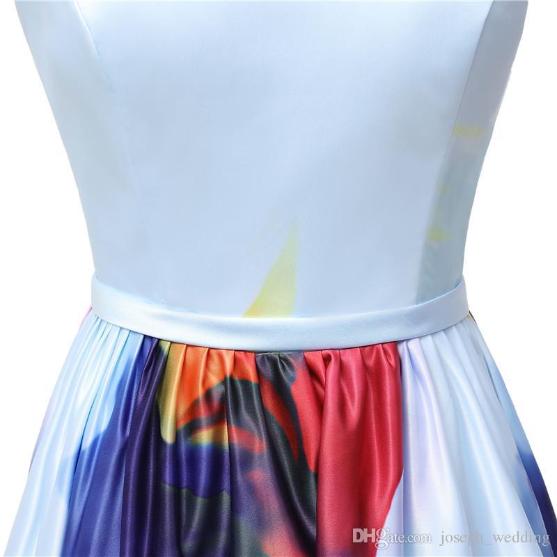 Freies Verschiffen ausgebogte Abschlussball-Kleider vestidos de Noiva eine Linie formales Abend-Party-Kleid Schnelle Anlieferung
