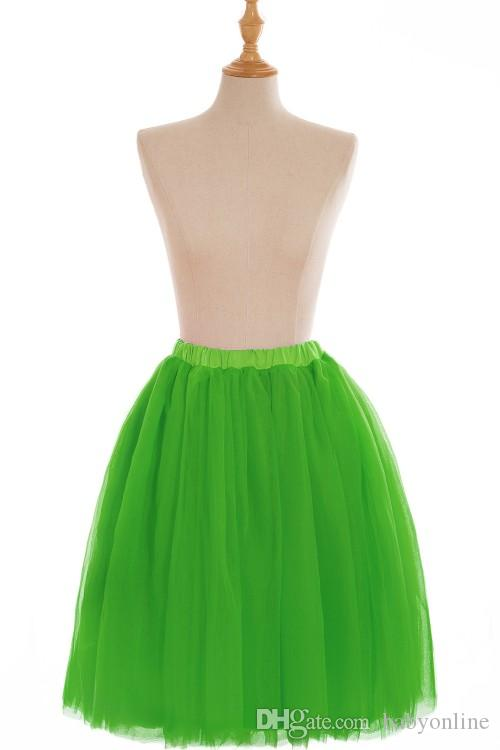 Full Tutu Tulle Skirts Short Prom Party Dresses Ball Gowns 5 Layers Underskirt Crinolines Cheap with CPA583