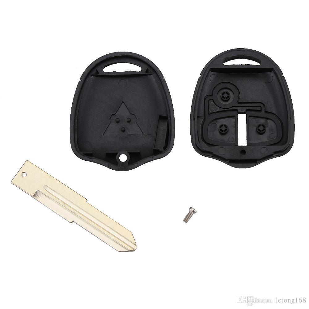 Garantizado 100% 3Buttons Mitsubishi Lancer EX 3 botón clave de la caja remota shell de alta calidad clave del coche en blanco para Mitsubishi clave envío gratis