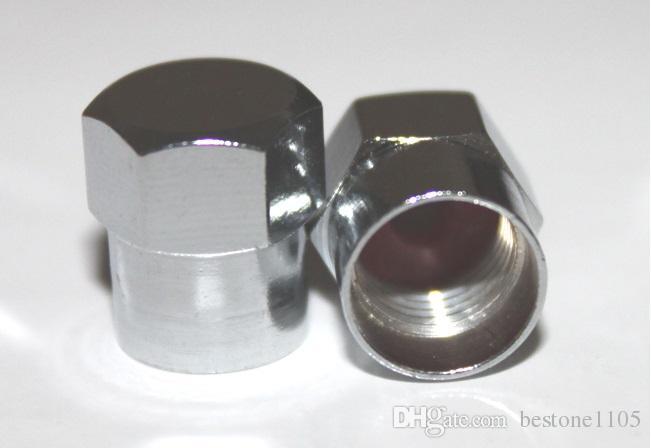 / demi Hex Metal Tire Valve Caps De Haute Qualité Tige De Valve De Voiture Voiture Couvre Laiton Chrome Finition 8V1 Fils En Gros
