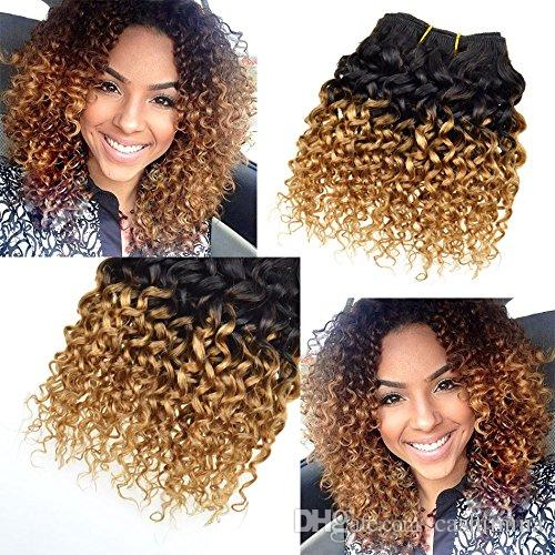 Afro Curly 400g Human Hair Extensions Short Size 8 Inch 8