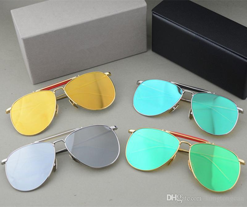 981579cb8e7 Vintage Fashion Sunglasses Thom Browne TB 015 Women Man Brand Design Suqare  Original Box And Case Polarized Lens Top Quality Heart Shaped Sunglasses ...