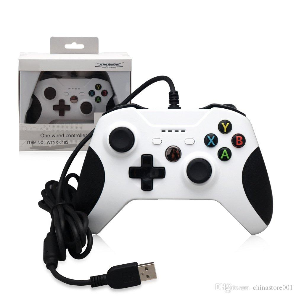 Cheap Game Controller Gamepad USB Wired Game Control PC Joypad Joystick Accessory For Xbox One Slim S Game Controller Laptop Computer