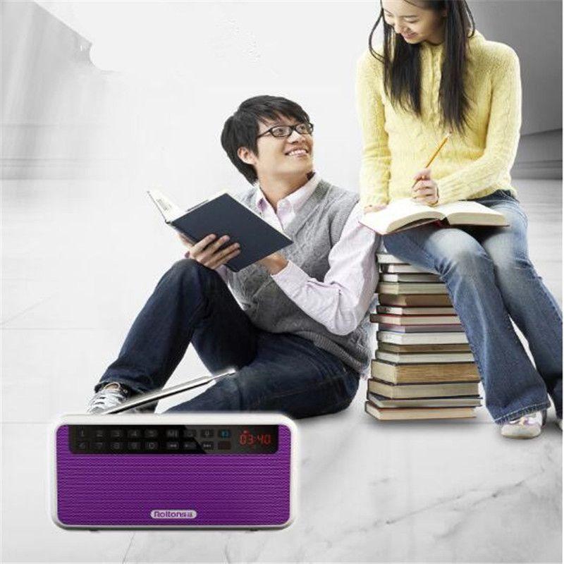 2018 new thin and light mini sound card bluetooth speaker digital karaoke machine portable radio