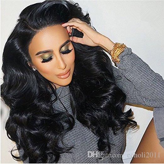 Pre Plucked 360 Lace Frontal Wigs-Body Wave Full Frontal Lace Human Hair Wigs for Black Women Natural Hairline 180% 250% density 16inch