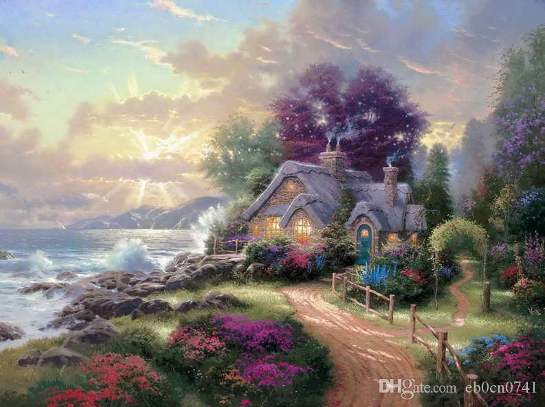 A New Day Dawning Thomas Kinkade Oil Paintings Art Wall Modern HD Print On Canvas Decoration No Frame