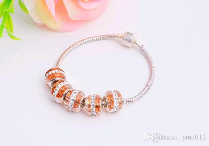 Prime Clay gepflastert Kristall Strass lose Perlen großes Loch 14mm 8 Farben Aktien für DIY Schmuck machen Europa Armband Armaturen