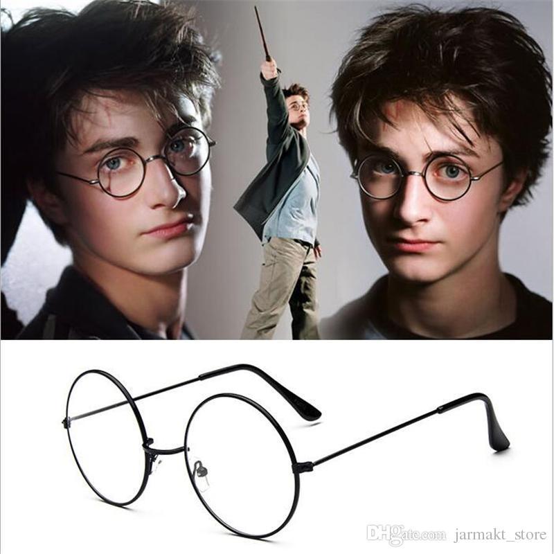 Harry Potter Lunettes Rondes Lunettes Cadres Halloween Cosplay Noir Or Argent Plain Miroir De Mode Lunettes En Gros