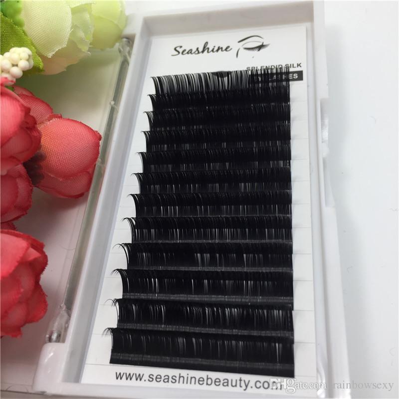 seashine all size individual eyelash C D L curl volume eyelsh false lash eyelashes sourth korea silk handmade lash