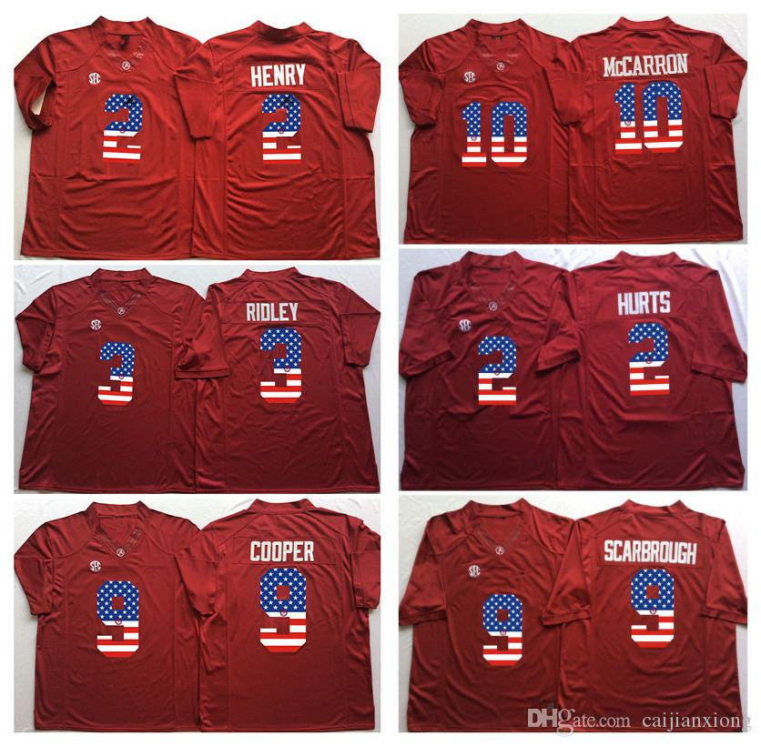 9db16f6cb ... Youth White Authentic College Football Jersey; Alabama Crimson Tide Red  3 RIDLEY 2 HENRY 9 COOPER 10 McCARRON 2 HURTS 9 SCARBROUGH; Stitched Tony  Brown ...