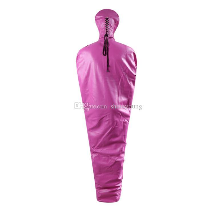 Mummy Body Binder BDSM Restraints Strait Jacket Tie Up Bondage Gear Fetish Fantasies Play Adult Sex Toys for Women Black Pink GN302405215