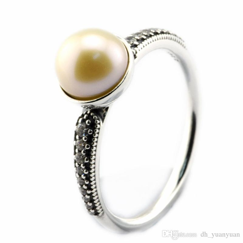 a8f99a5db 2019 2016 Elegant Beauty Pearl Ring 100% 925 Sterling Silver Bead Fit Pandora  Ring Fashion Jewelry DIY Charm Brand From Dh_yuanyuan, $20.1   DHgate.Com