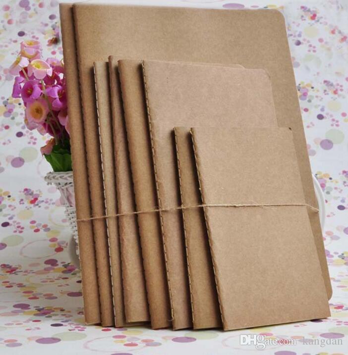Mini bolso do couro papel de caderno de papelaria do vintage notebook atacado Kraft esboço notepads papel lápis de desenho notas livro