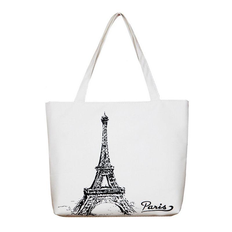 3d62912a77 Wholesale- Women Canvas Handbag Large Space Zipper Shopping Travel ...