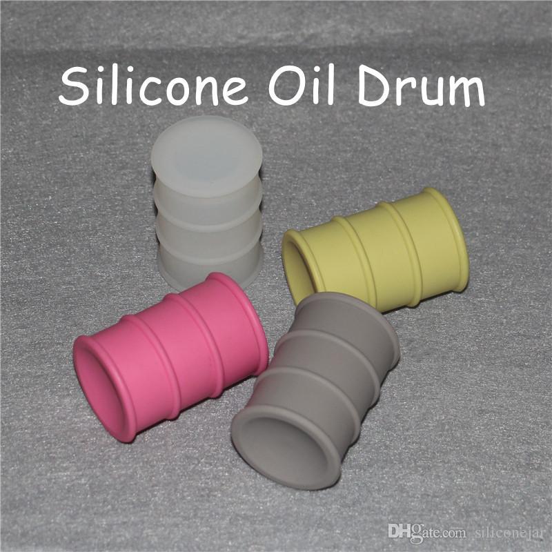 Антипригарное масло пятна силиконовые банки Dab воск контейнер силиконовое масло барабан баррель контейнер Multi цвета Бесплатная доставка
