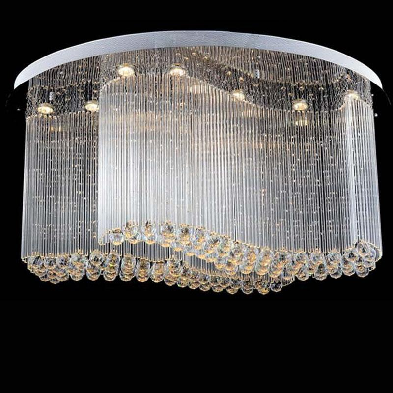 New modern oval crystal chandelier luxury chandelier cristal lamp new modern oval crystal chandelier luxury chandelier cristal lamp flush led light for homeshophotel cheap pendant lights ceiling fixtures from mozeypictures Gallery