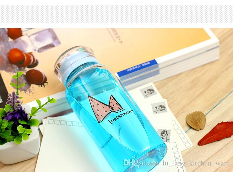 glass Bottle cup 2018 Creative 300ml drinking transparent Small fresh Summer series for student Cup Sealed type water coffee mugs wholesale