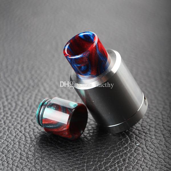 Newest Epoxy Resin Drip Tip Colorful Resin Wide Bore drip tips for TFV8 TFV12 Atomizers Tank Kennedy 24 RDA RBA Mods