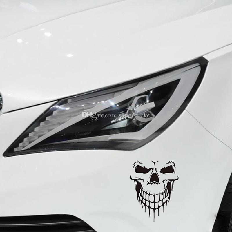 Amazing Sticker Bombing BIG SIZE 40x36CM Skull Head car sticker Engine hood side door Car styling Reflective Waterproof decals and stickers