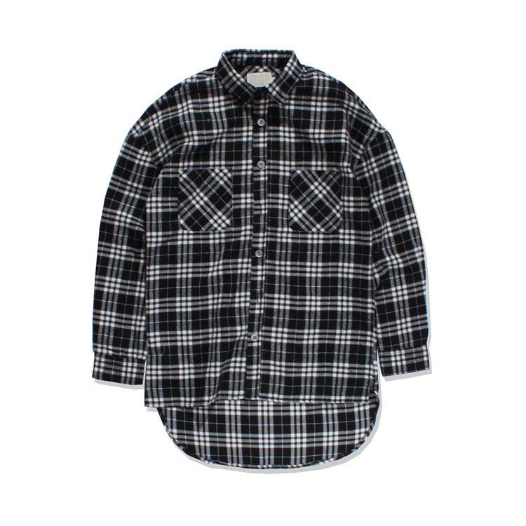2017 Black White Plaid Flannel Shirt Men Long Sleeve 2017 Spring ...