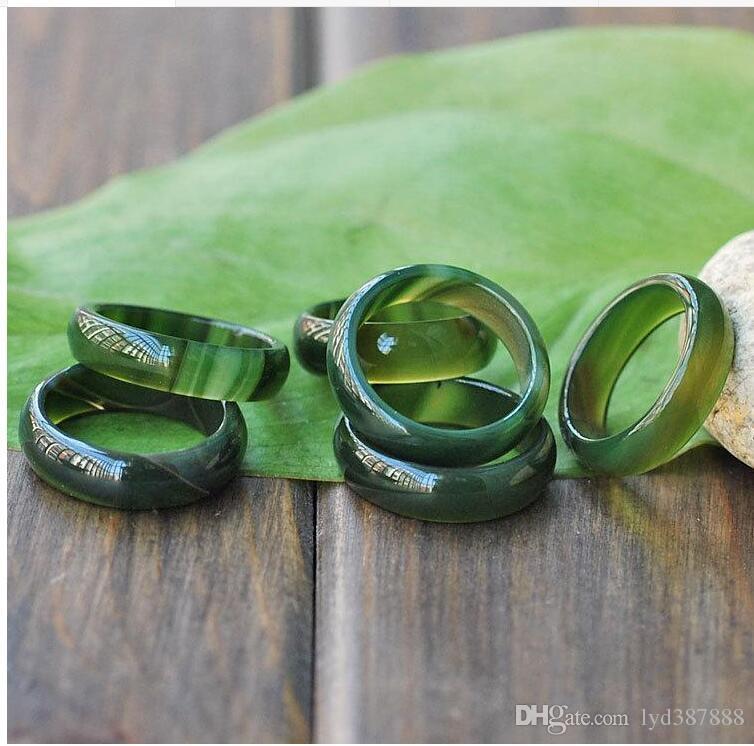 100% natürliche feine Jade in Myanmar Mischungsgröße Ring + freies Verschiffen B3