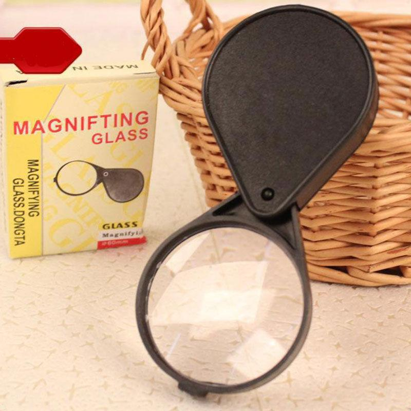 Magnifying Glass 60mm Lens 10x Magnification For Travel Reading Jewellery Watche