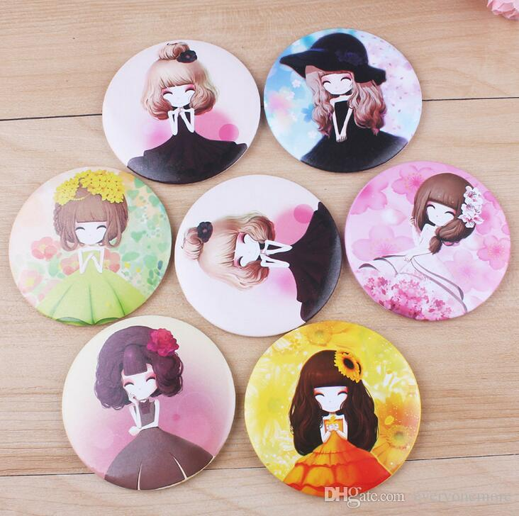 Girl Mini Pocket Makeup Mirror Cosmetic Compact Mirrors