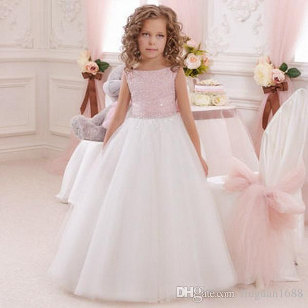 Pink Real Photo Flower Girl Dresses Sleeveless With Handmade Flowers Tulle Kid's Ball Gowns Beauty Dress First Communion Custom Made