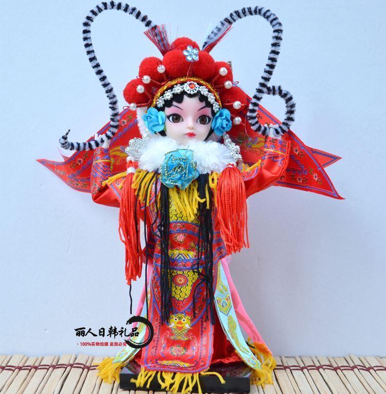 Offerta speciale Pechino umano Q 9 pollici versione del cartone animato ornamenti bambola Opera di Pechino il memoriale imperiale regalo di Natale