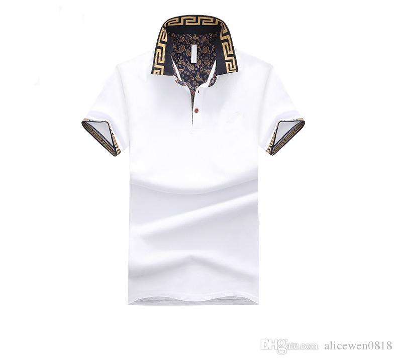 Mens Polo Shirt Brand Plus Size M-5XL Cotton Polo Shirt Men Slim Fit Brand Clothing Black Solid Polo Shirt
