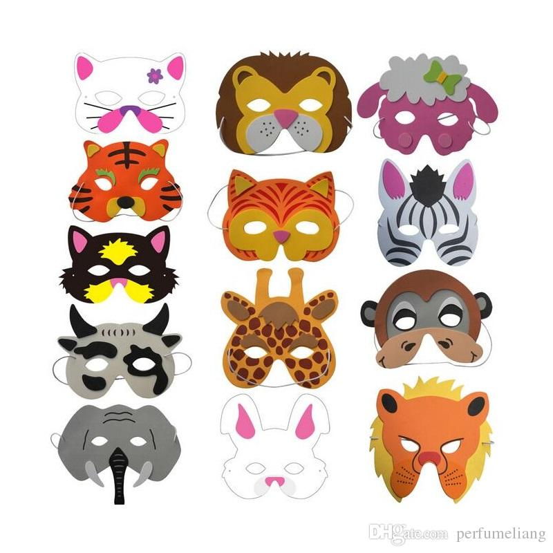 Verschiedene EVA Schaum Tier Masken für Kinder Geburtstag Party Favors Dress Up Kostüm Zoo Jungle Party Supplies ZA4820