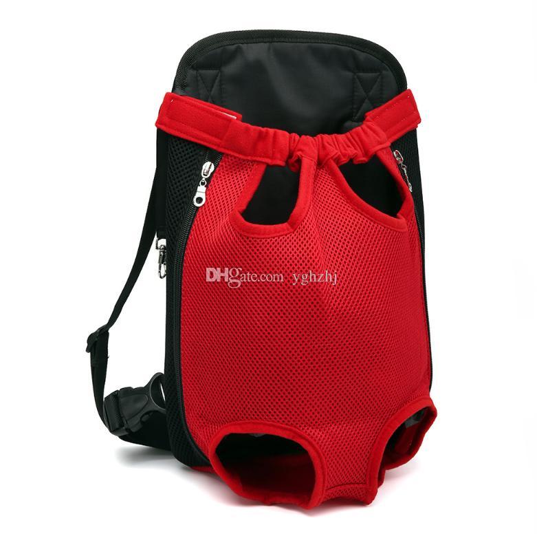 Fournitures pour animaux de compagnie en gros, épaules sac à dos de poitrine, sac à dos portable pour animaux de compagnie chien, 6 couleurs, livraison gratuite