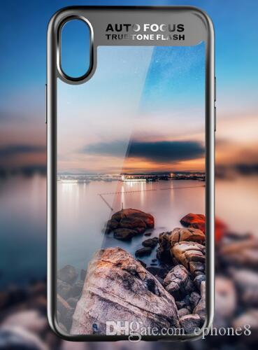 Рок для iPhone X 5.8 дюймов случае, тонкий полный защитный PC ТПУ силиконовый чехол Case для iPhone X Coque Funda shell case