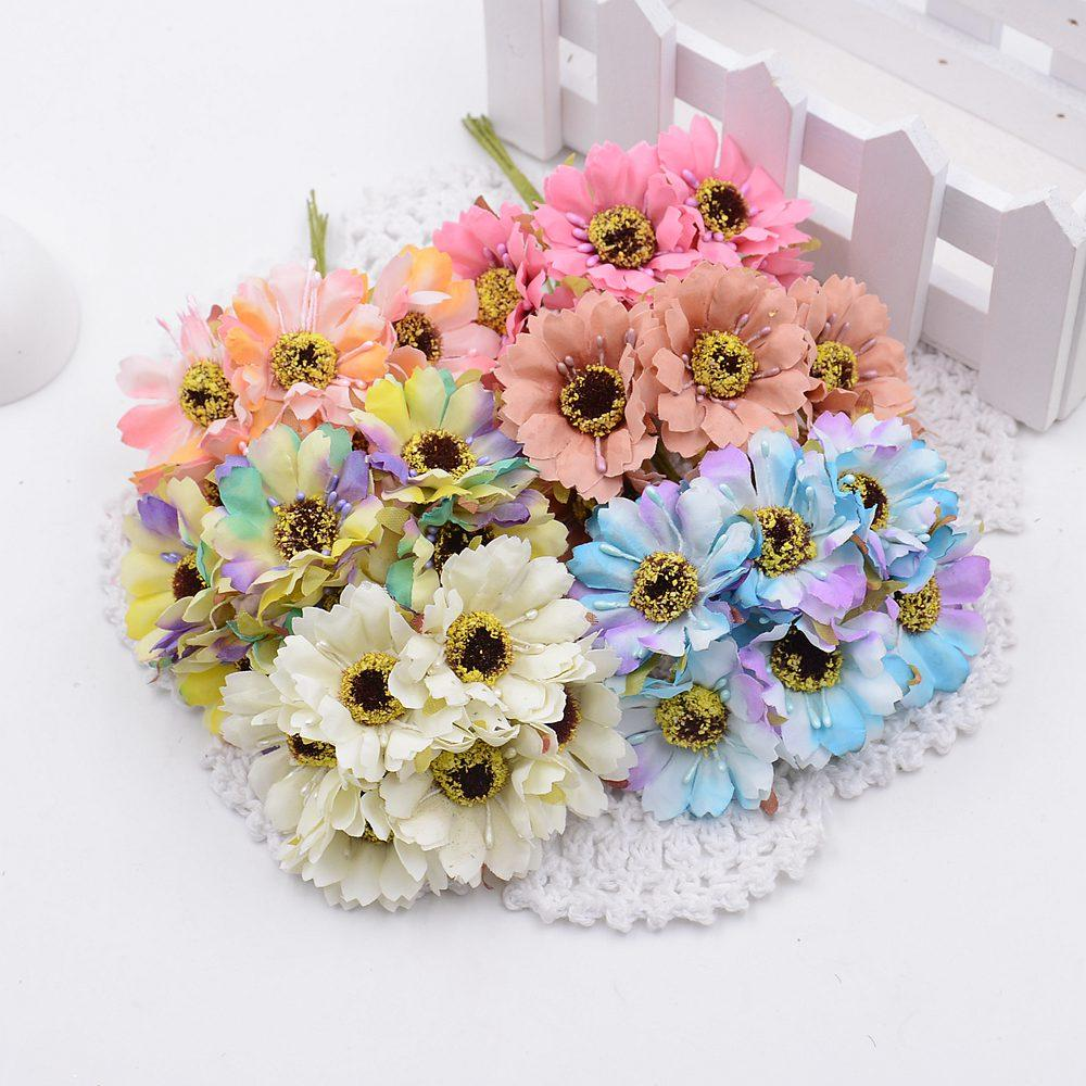 Discount wholesale silk flowers artificial flowers simulation high discount wholesale silk flowers artificial flowers simulation high quality chrysanthemum daisy tissue hand made wedding decoration from china dhgate mightylinksfo