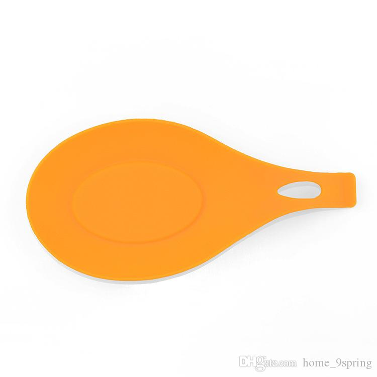 Silicone Spoon Rest Heat Resistant Kitchen Utensil Spatula Holder Placemat Cooking Tools