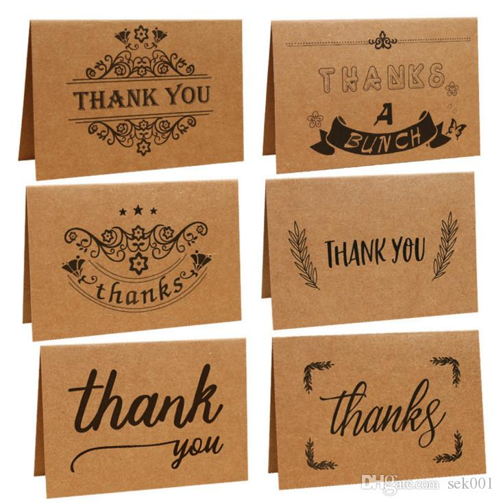 Vintage Kraft Paper Thank You Greeting Cards With One Envelope For Birthday Christmas FatherS Days Mother S Gifts Free Online