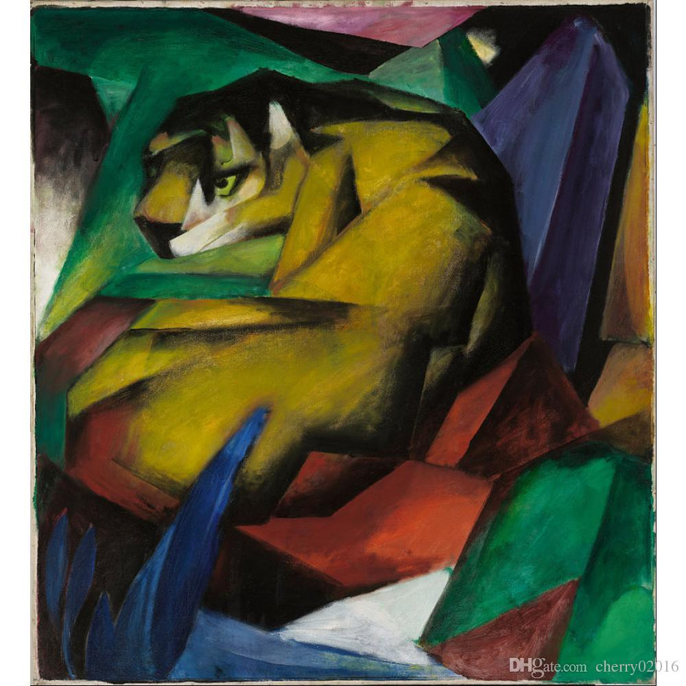 Canvas Art The Tiger Franz Marc Paintings Oil Reproduction High ...