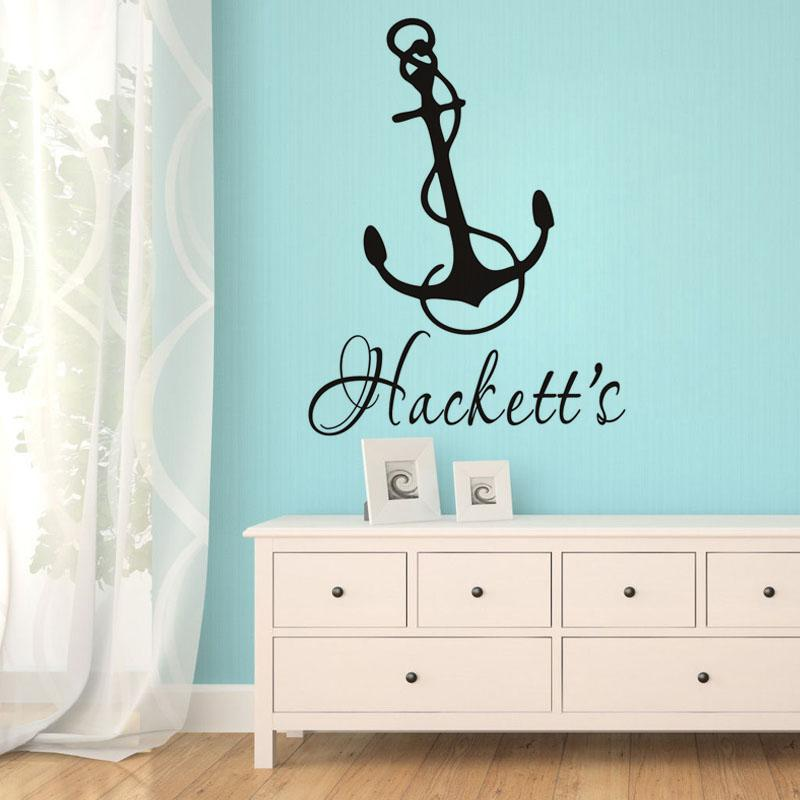 personalized anchor wall sticker boys bedroom wall decals customize