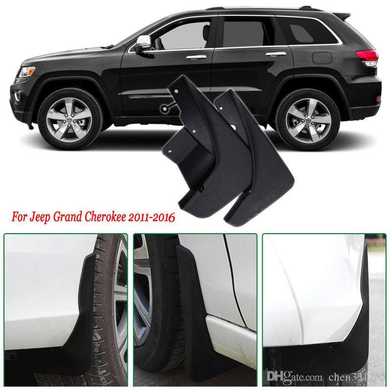 4x Vorne / Hinten Auto Schmutzfänger Spritzschutz Kotflügel Schmutzfänger Auto Kotflügel Für Jeep Grand Cherokee 2011-2016