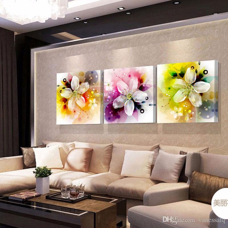 Grosshandel Hauptdekor Druck Segeltuch Olgemalde Weinlese Blumen Wand