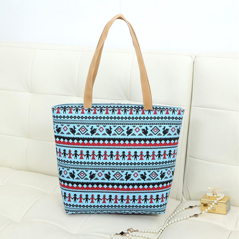 Women Bag Canvas Handbags Fashion Large Beach Bags Women Summer ...