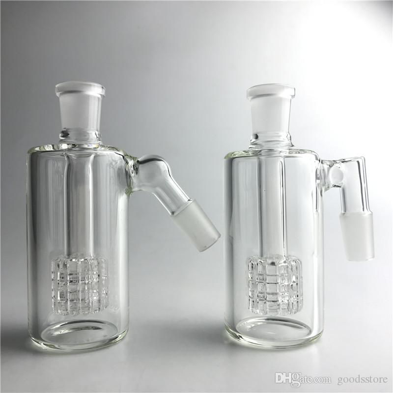 Glass Ash Catcher 14mm 18mm 4.5 Pulgadas Mini Glass Bong Ash Catchers Grueso Pyrex Clear Bubbler Ashcatcher 45 90 Degree