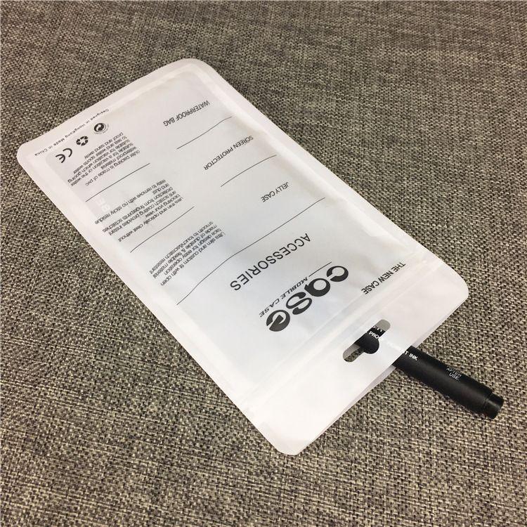 Custodia con chiusura a zip Accessori telefoni cellulari Custodia con cavo USB auricolari Borsa imballaggio al dettaglio OPP PP PVC Borse imballaggio in plastica iPhone 6 7 8 X Note8