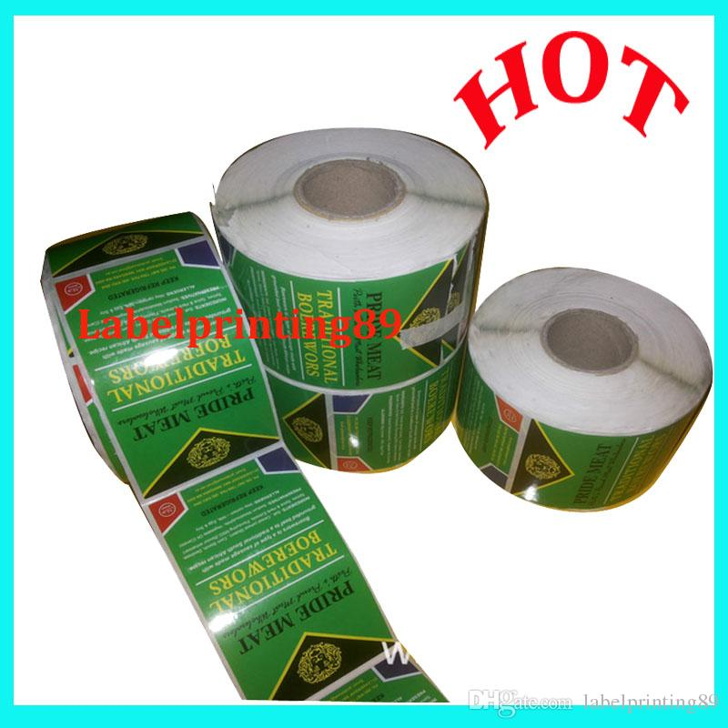 customized glossy paper colorful printed food label sticker from factory sales directly